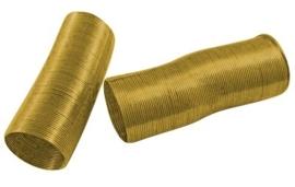 Memory Wire voor ringen  goudkleurig 40 wendingen 20mm
