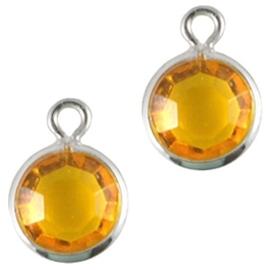 2x DQ facethanger gekleurd Zilver-yellow (op is op!)