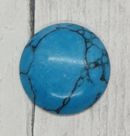 1 x cabochon rond van Turquois 26mm