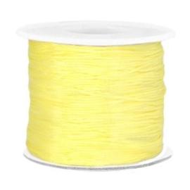 Per 2  meter Macramé draad 0.7mm Soft yellow