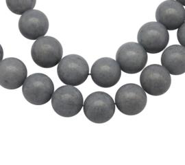 10 x  Kraal van  Mashan Jade Grey 6mm