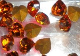 2 x Preciosa punt hart crystal 6,6 x 6 mm Topaas