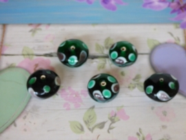 5 x High Quality Glass Hand Made Bead 144 afm. . ca. 11x  18mm.