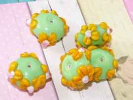 5 x High Quality Glass Hand Made Bead 096  afm. ca. 12 x 21mm