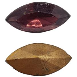 4 x amethist swarovski puntsteen 10 mm x 5 mm