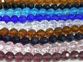 Stunt!! Schitterende strengen met c.a. 28 facet kristal kralen 12mm, keuze uit meer kleuren!