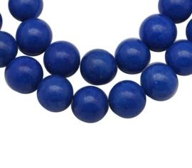 1 x  Kraal van  Mashan Jade Blue 6mm