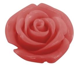 4 x roosjes van Resin synthetisch koraal 15 x 15 x 10mm Gat: 0,5mm pink
