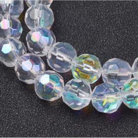 Stunt!! Schitterende strengen met c.a. 40 facet kristal kralen 8mm Kristal AB