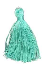 3x Kwastjes Zeegroen Turquoise 33 mm