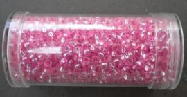 Per stuk Gütermann rocailles 9/0 28gr. roze-silverlined