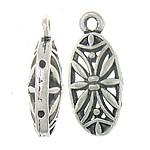 1 stuks prachtige Tibetaans zilveren druppel hanger Bali style 10 x 20 x 7mm gat: 2mm