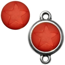 1 x  Polaris cabochon ster matt 15 mm Red magma zonder houder