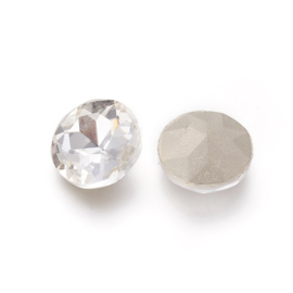 5  x cabochon puntsteen rivoli kristal transparant 20 x 7,5mm