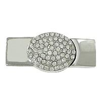 Magneetsluiting met strass 41x18mm, 11x3,5mm (Ø 10mm)