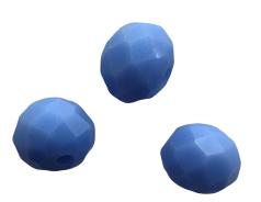 10 x Briolette top facet kristal kralen 6x4 mm gat 1 mm opaal blauw paars