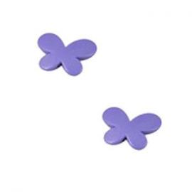 10 x Kinderkralen Acryl Vlinder Paars c.a 17 mm