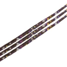 20 cm Trendy gestikt koord  7 x 5mm bruin