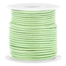 50 cm DQ leer rond 1 mm Crysolite green metallic