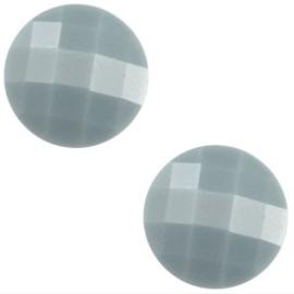 2 x Basic cabochon 10mm Pale blauw grijs