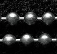 50 cm Ball Chain ketting dikte 2 mm gunmetal donker zilver kleur