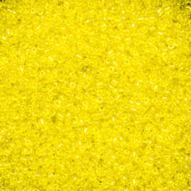 20 gram  rocailles Geel 12/0 2mm