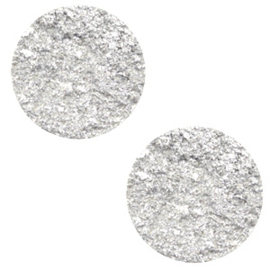2 x 7 mm platte cabochon Polaris Elements Goldstein White