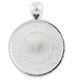 Houder A1 Gat: 4mm. Binnenzijde: 25mm antiek zilver kleur