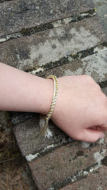 Prachtige Biba armband  gold plated chain