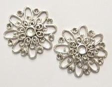 Per stuk antiek zilveren metalen tussenzetsel/hanger 25 mm
