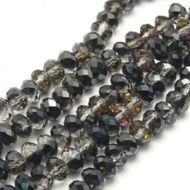 15 x Topfacet 8x6 mm Black Diamond