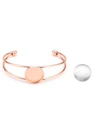 Metalen armband met cabochonhouder tray 20mm Rose gold kleur met  glascabochon
