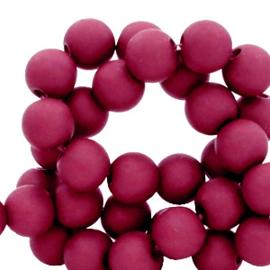 30 x 6 mm acryl kralen matt Port red