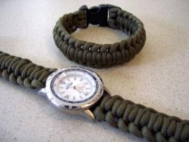 Horlogebandje - armbandje van satijnkoord 2mm