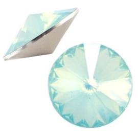 1x BQ quality 1122- Rivoli puntsteen12 mm Light green turquoise opal ca. 12 mm (1122)