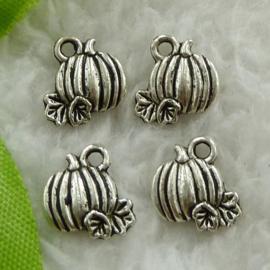 6 x Tibetaans zilveren pompoenen 10mm