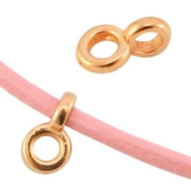2 x DQ metaal hanger met oog Ø2.2mm Rosé goud 5x8 mm