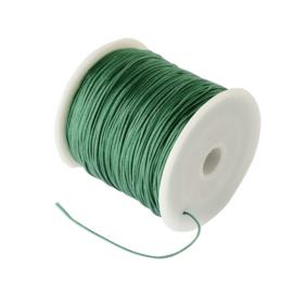 1 rol 90 meter gevlochten nylon koord, imitatie zijden draad 0,8mm  see green