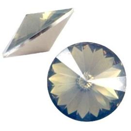 1x BQ quality 1122- Rivoli puntsteen12 mm Light colorado topaz opal ca. 12 mm (1122)