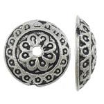 10 stuks schitterende tibetaans zilveren kralenkapjes:14 x 4mm gat: 1,5mm