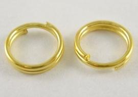 100 gouden splitringetjes 10mm