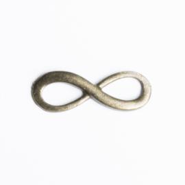 5x Tussenzetsel Infinity 23mm x 8 mm geel koper kleur oogje: 5mm