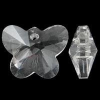 Prachtige kristal facet Hanger vlinder 14 x 12 x 7mm gat 1mm
