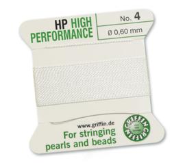 High performance Griffin met naald  No: 4 Ø 0,60mm wit