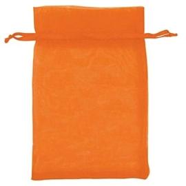 50 stuks oranje organza zakjes 13 x 18cm