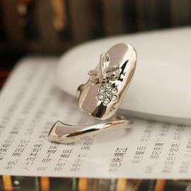 Prachtige Ring Dragonfly, verstelbaar voor aan de vingertop zilverkleur