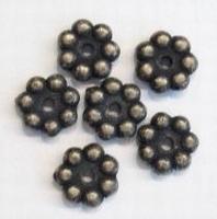 10 Stuks Antiek bronzen kunststof kraal rondel 9 mm