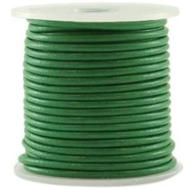 50cm DQ leer rond 2 mm Cadmium green
