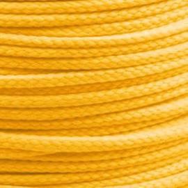 1 meter sieradenkoord c.a. 5 x 3mm kleur Radiant Yellow (licht oranje)