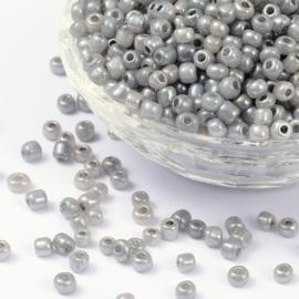 Zakje mooie rocailles 20 gram Seed Beads 6/0  4mm gat: 1,5mm  Grey